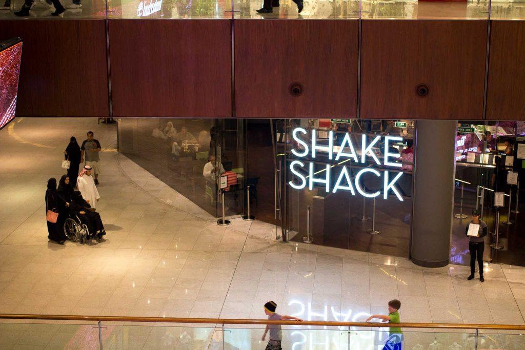 Dubai Mall shake shack ravintola
